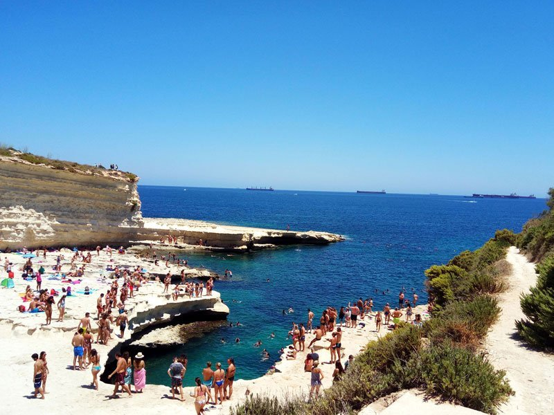 Beaches in Malta - St Peter's Pool
