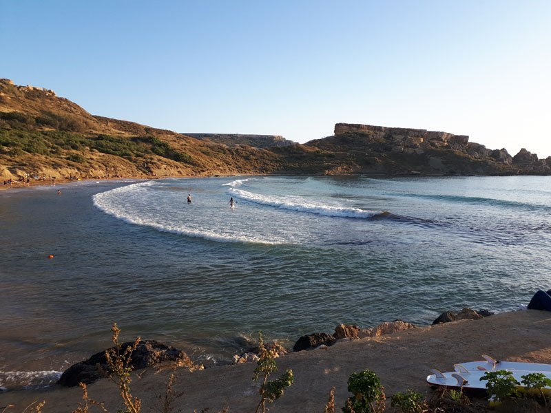 Beaches in Malta - Ghajn Tuffieha