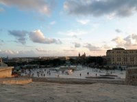 Valletta view on The Triton Fountain and Floriana