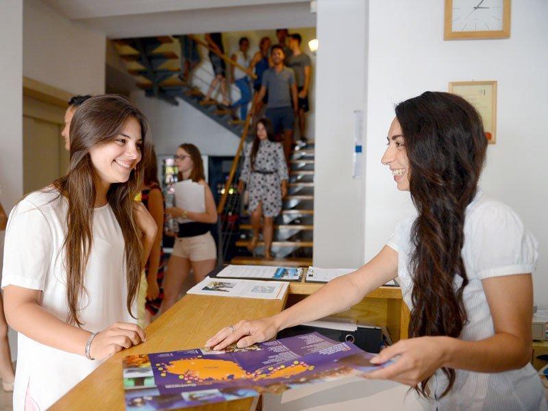 English school in St Julian's Reception area